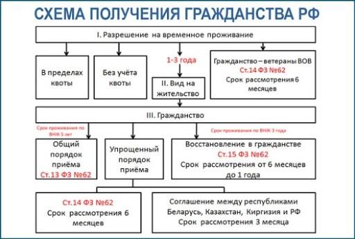 Схема оформления гражданства